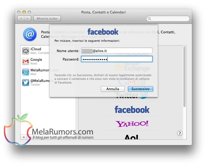 configurare impostare facebook mountain lion melarumors 3