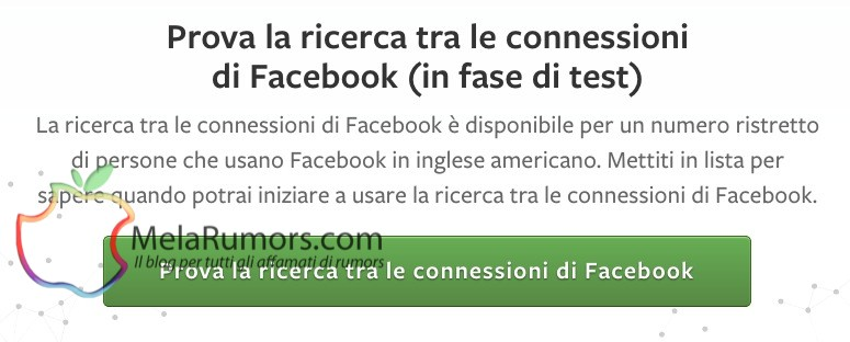 anteprima prova graph search facebook melarumors