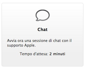 supporto apple via chat melarumors