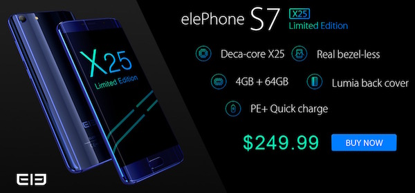 offerte-elephone-s7-x25-limited-edition